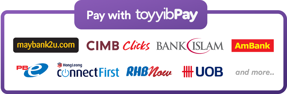 [toyyibPay payment gateway]100% Secure Online Banking FPX Payment (Barang sampai 1-3 hari)